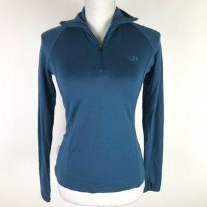 Icebreaker Merino Bodyfit 260 Top Blue 1/4 Zip
